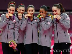 The 2012 U. women's gymnastics team has won the second gold medal in the sport for the country. Move over, Magnificent Seven, the Fab Five are now the greatest women's gymnastics team in U. Nbc Olympics, Gymnastics Team, Artistic Gymnastics, Olympic Gymnastics, Olympic Team, Summer Olympics, Olympic Games, Olympic Athletes, Champs