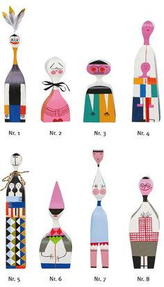 i dream about these Alexander Girard wood dolls Alexander Girard, Boutique Decor, Wooden Dolls, Illustration, Wood Toys, Mid Century Design, Art Plastique, Art Dolls, Print Patterns