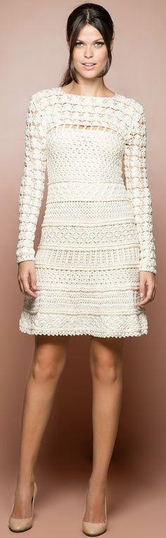 Vanessa Montoro vestido de crochê
