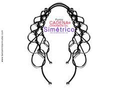 PUNTO CADENA ORNAMENTAL SIMÉTRICO © Pulseras, collares, aretes, engastes, ribetes. TEJEDURIA METALICA NO CONVENCIONAL Original techniques © MACRAMETALICO ® arte@benjaminbermudez.com WhatsApp: +51 940761490 © 0567 Inventor Perú
