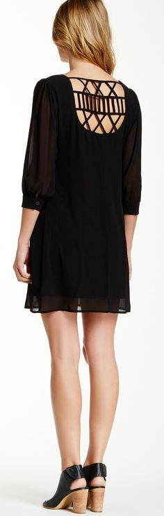 Lattice Back Shift Dress