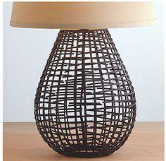 Basket lamp base from World Market