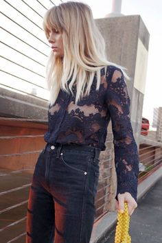 Check out 15 cool new ways fashion girls are wearing lace this year.