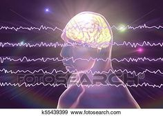 EEG Electroencephalogram, brain wave in awake state with mental activity View Large Illustration Office Mural, Brain Waves, Medical Illustration, Art Icon, Free Illustrations, Single Image, Perfect Photo, Art Images, Line Art