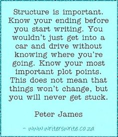 Peter James Quote -- maybe I'll remember this the next time I start a project! LOL...