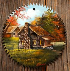 Joyces Creative Country - Custom painted saws, slates and tinware Autumn Painting, Painting On Wood, Painted Milk Cans, Serra Circular, Fall Arts And Crafts, Primitive Painting, Tole Painting Patterns, Circular Saw Blades, Farm Art