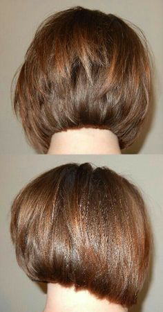 A Line Haircut Back View