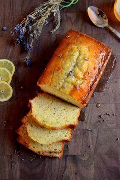 Lemon and Lavender Bread with Honey Lemon Glaze
