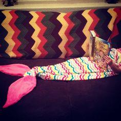 Lovely mermaid tail blanket on Etsy, $35.00