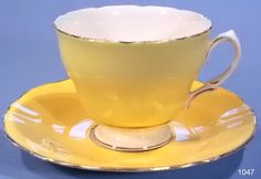 harlequin yellow tea cup and saucer vintage tea cup and saucer . China Cups And Saucers, Coffee Cups And Saucers, China Tea Cups, Tea Cup Set, Cup And Saucer Set, Tea Cup Saucer, Tea Sets, Vintage Cups, Vintage Tea