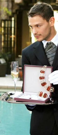 M'lady, would you care for a few rubies to go with your champagne cocktail this evening?