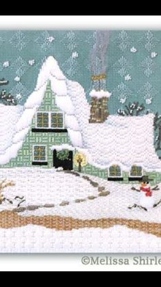 Melissa Shirley winter house needlepoint