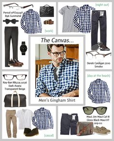 The gingham shirt is a staple piece in most men's wardrobes so we thought it was the perfect piece of clothing to highlight in this canvas. The inspiration came from Chris Kos who was a model on our shoot. #RealStyle