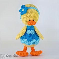 Duck Amigurumi - $4.50 by Carolina Guzman of One and Two Company