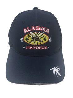Alaska Mosquito Air Force Slideback Blue Embroidered Ball Cap Hat #CAP