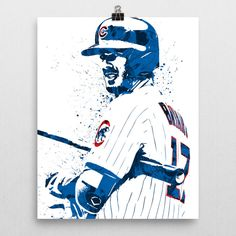 Kris Bryant poster. Bryant is an American professional baseball third baseman for the Chicago Cubs of Major League Baseball (MLB). He attended the University of San Diego, where he played college base