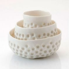 A collection of beautiful organic ceramic artworks.