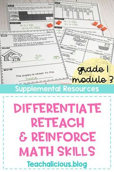 Teachers enhance their students learning to wiwith these Module 3 supplemental math worksheets.  They are aligned with Eureka math (Engage NY) and focus on word problems, measurement & data.