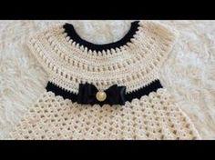 Learn to crochet for absolute beginners in this Beginner Crochet Series with Kristen Mangus. Lesson How to Single Crochet covers everything from the how t. Crochet Dress Girl, Crochet Baby Dress Pattern, Baby Dress Patterns, Crochet Girls, Crochet Baby Clothes, Crochet For Kids, Crochet Patterns, Gilet Crochet, Crochet Beanie