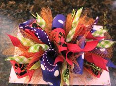 Adorable hot pink purple and lime green funky by lilmommas on Etsy, $8.50