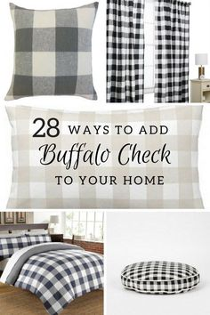 Black And White Buffalo Check Welcome Mat Buffalo Check