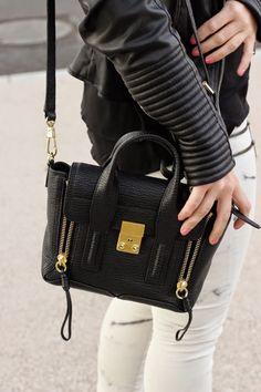 3.1Phillip Lim Mini Pashli www.fashionbarbecue.com Phillip Lim Bag, Cloth Bags, Tote Handbags, Personal Style, Girl Fashion, Wallet, Purses, My Style, Mini