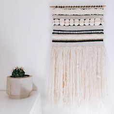 BLACK & GOLDEN IVORY // Woven Wall Hanging
