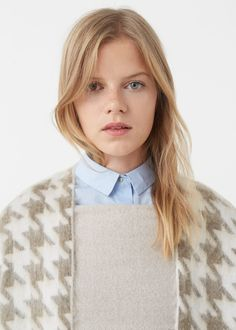 Houndstooth cardigan - Cardigans and sweaters for Woman | MANGO USA