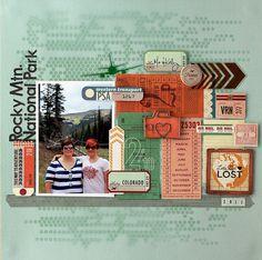 #papercraft #scrapbook #layout heyheymandykay: Cocoa Daisy August kit-- 80 Days!!