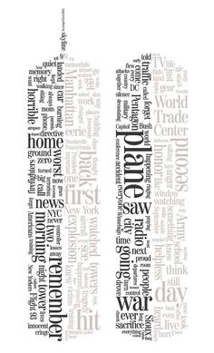 Sioux City Journal, used the World Trade Center's Twin Towers--treated with text, color or open space--as symbols of reflection.