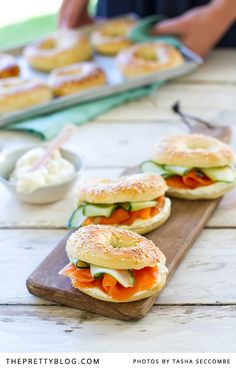 Bagels with Cold-Smoked Trout {Recipe} | Recipes | The Pretty Blog