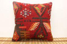 Decorative Kilim Pillow 16 x 16 Antique kilim by kilimwarehouse, $54.00