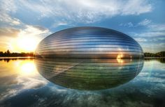 National Centre for the Performing Arts (NCPA) / National Grand Theatre / The Bird's Egg Opera House Beijing, China Unusual Buildings, Interesting Buildings, Amazing Buildings, Architecture Cool, Architecture Wallpaper, Innovative Architecture, Paul Andreu, Glass Building, City Wallpaper