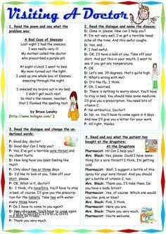 Nursery Class 5 Lines On Doctor . Nursery Class 5 Lines On Doctor . English Speaking Skills, English Learning Spoken, Teaching English Grammar, English Writing Skills, English Reading, English Language Learning, Education English, English Lessons, English Vocabulary