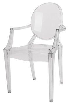 A cadeira Louis Ghost foi criada em 2002 pelo designer Philippe Starck. É uma cadeira barroca Luís XV revisitada, em policarbo...