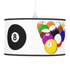 Billiards Pool Design Lamp Shade
