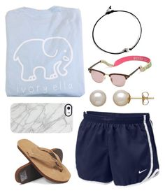 """casual"" by lindsay-mccartney ❤ liked on Polyvore featuring moda, NIKE, Uncommon, Lilly Pulitzer, Rainbow Sandals y Honora"