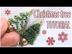3D Beaded Christmas Tree Earrings Tutorials ~ Seed Bead Tutorials