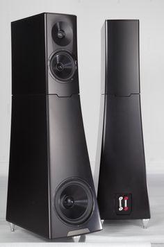 YG Hailey speakers. Aluminum enclosures, aluminum drivers.