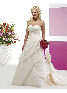 LACE BRIDESMAID PARTY BALL EVENING GOWN IVORY WHITE FORMAL PROM TAFFETA A-LINE WEDDING DRESS