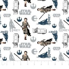 Camelot Cottons House Designer - Star Wars The Force Awakens - Rey in White