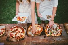 Elegant wedding food stations of tasty pies on a budget DIY affordable wedding a. Elegant wedding food stations of tasty pies on a budget DIY affordable wedding appetizer for dinner Pizza Wedding, Wedding Food Stations, Wedding Reception Food, Brunch Wedding, Wedding Catering, Wedding Ideas, Budget Wedding, Reception Design, Catering Food