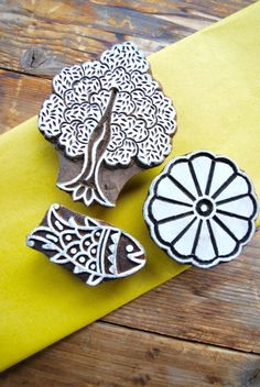 Block print stempel (henna) India