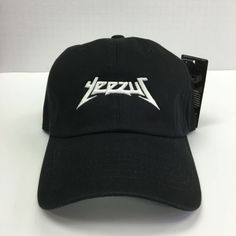 YEEZUS EMBROIDERED GLASTONBURY UNSTRUCTURED DAD CAP HAT BLACK 350 750 KANYE NEW