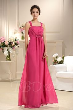 Sexy Empire Waist V-Neck Long Bridesmaid Dress Bridesmaid Dresses 2014, Prom Dresses, Formal Dresses, Wedding Dresses, Bridesmaids, Rose Fushia, Cute Dresses, Empire, Elegant