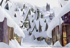 Hogsmeade in the snow, would like to live here :)