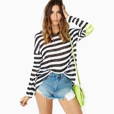 Find More Information about Black and white stripe long sleeve o neck loose paillette medium long patchwork t shirt basic shirt haoduoyi,High Quality t-shirt silk screen machine,China shirt patch Suppliers, Cheap t-shirt vest from xiaolin zhao's store on Aliexpress.com