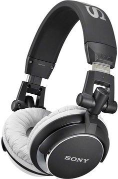 Sony - On-Ear Koptelefoon - Zwart/Wit Gaming Headphones, Best Headphones, Over Ear Headphones, Sony, Top Gadgets, Headset, Bass, Dj, Gadgets
