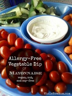 This Vegan Mayonnaise Recipe doubles as a Vegetable Dip. It's vegan, soy, and nut-free!