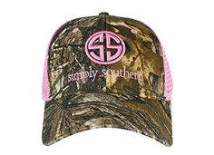 Simply Southern Preppy Ball Cap Hat HAT-SSCAMO-PINK Preppy Southern c29d8fda4ff1
